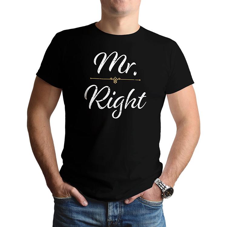85801355bc4d Tričká Mr Mrs Right